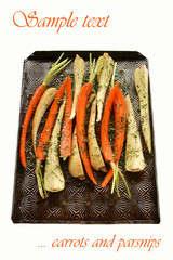 Roasting root vegetables