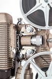 Close up of Vintage 8mm Movie Projector.
