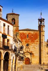 Church  at  Plaza Mayor. Trujillo, Caceres