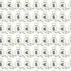 Money bags seamless pattern.