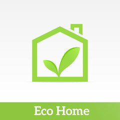 Eco Home. Drawing on the theme of ecology.