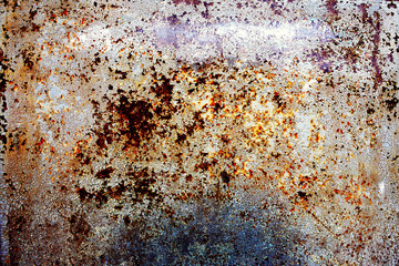 rusty corrosion metal background with old paint