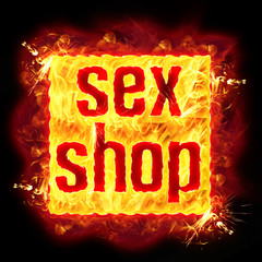 Sex Shop Fire Banner