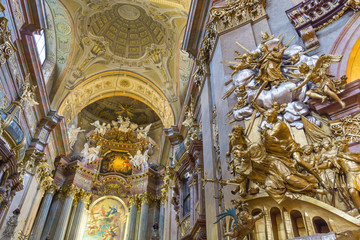 Peterskirche or st. Peter church at Vienna, Austria