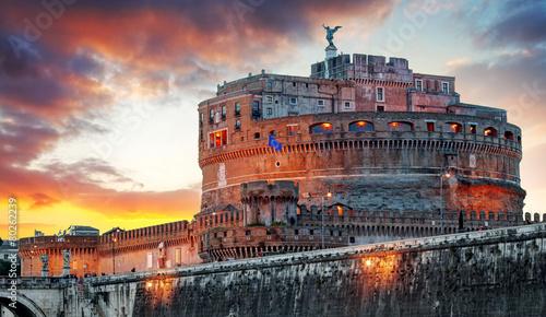 Fototapeta Rome - Castel saint Angelo, Italy