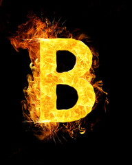 B Letter on Fire