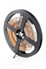 Plastic reel with LED strips for lighting the room
