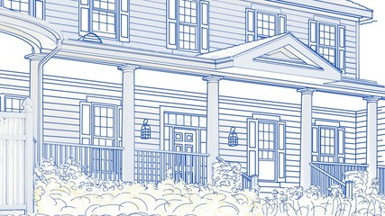 Drawing of House Panning To Reveal Sold Sign and Finished Home
