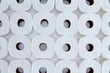 Background pattern of white toilet paper rolls - 80263219
