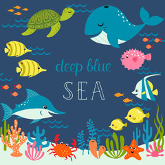 Cute deep blue sea