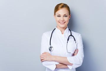 Cheerful doctor.