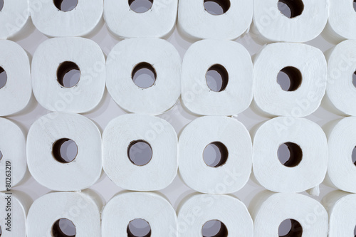 canvas print picture Background pattern of white toilet paper rolls