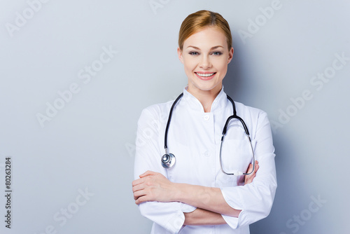 Cheerful doctor. - 80263284