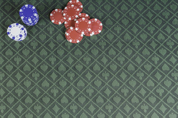 Casino poker background with room for text