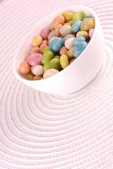 candies set on white plate