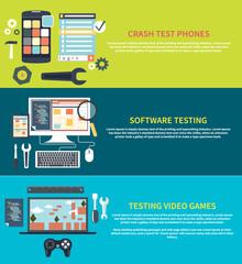Software, games, phones crash testing