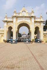 Entrance gate of Maharaja's Palace in Mysore - Karnataka - India