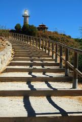 Escalera, faro, Benalmádena, Málaga