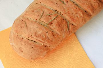 Loaf of bread homemade fresh baked