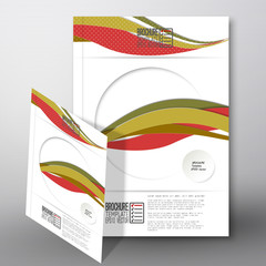 Colored wave background. Brochure, flyer or report for business