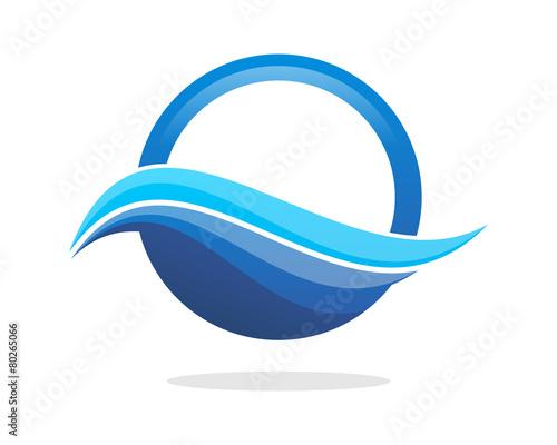 Wave Blue Circle - 80265066