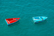Two small fishing boats on sea, Madeira island, Portugal - 80265287