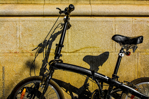 Plexiglas Fiets Black Bike