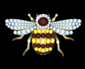 Brooch-bee