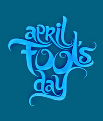 April fools day text design element
