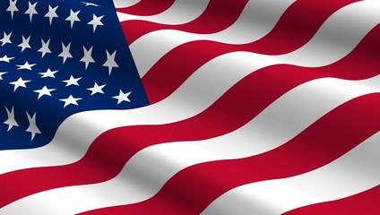 United States flag background.