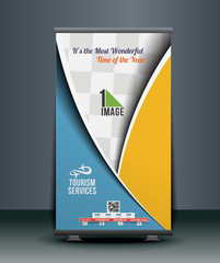 Travel Srvice Roll Up Banner Design