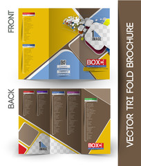 Online Videos Streaming Tri-Fold Mock up & Brochure Design