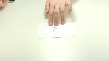 Short meeting note Question mark