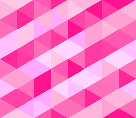 Seamless pink patterns of diagonal pink and triangles