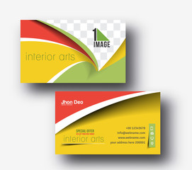 Modern Business Card Vector Template.