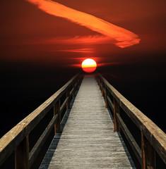 Himmelfahrt, Weg in eine rote Sonne