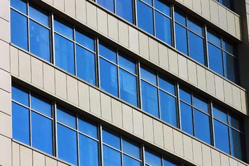 Окна офисного здания, текстура