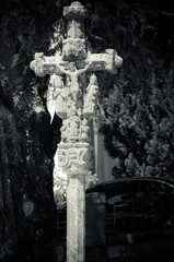Stone cross in Galicia (Spain)
