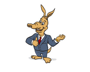 Aardvark Business Character
