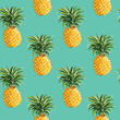 Pineapples Tropical Background - in vector - 80269684