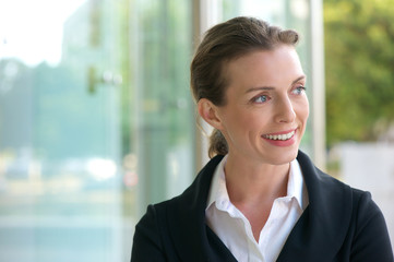 Career business woman smiling