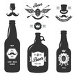 set of vintage craft beer bottles brewery badges - 80270016