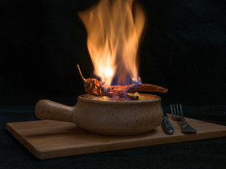 flambe meat
