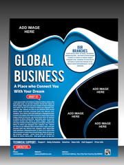 global business flyer & Poster Tempkate