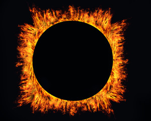 Ring of fire on black background