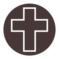 Cross single flat icon - Illustration