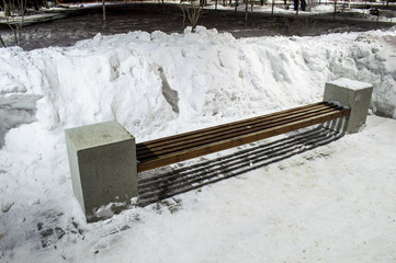 Bench in the winter