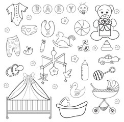children set of icons