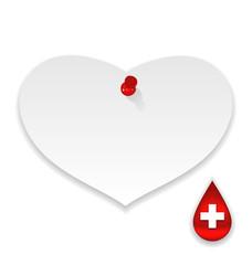 Donate blood save life, paper memo