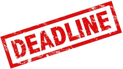 Stempel Grunge rot Deadline